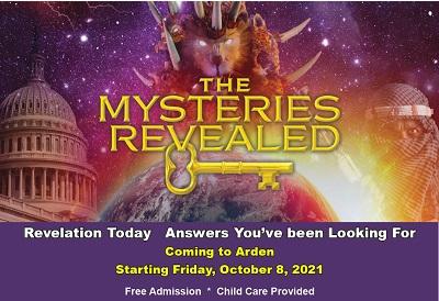 REVELATION TODAY – Coming To Arden Starting Friday, October 8, 2021Starting 2021   Speaker: Patti Butcher